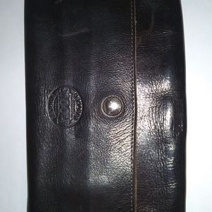 Roots Large Brown Soft Leather Wallet